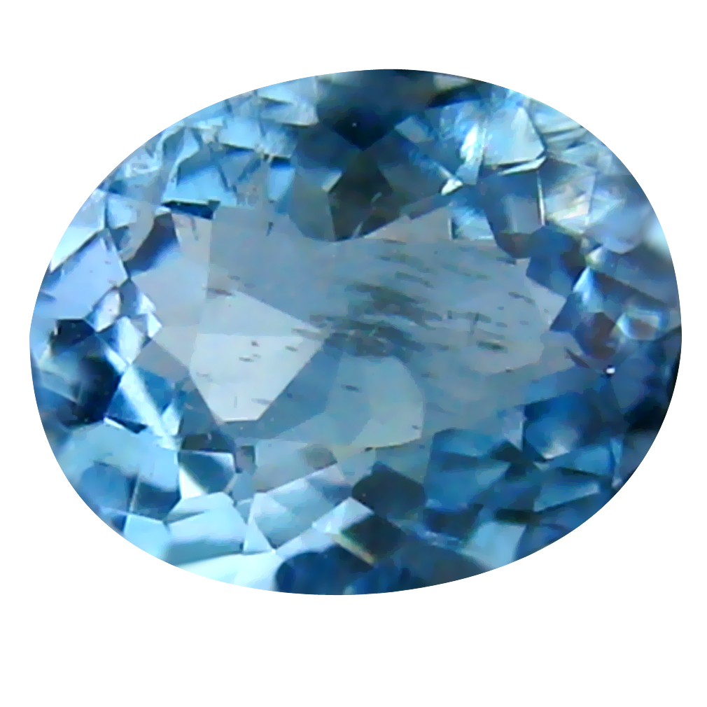 0.51 ct Oval Cut (6 x 5 mm) de Itabira Mine Brazilian Santa Maria Aquamarine