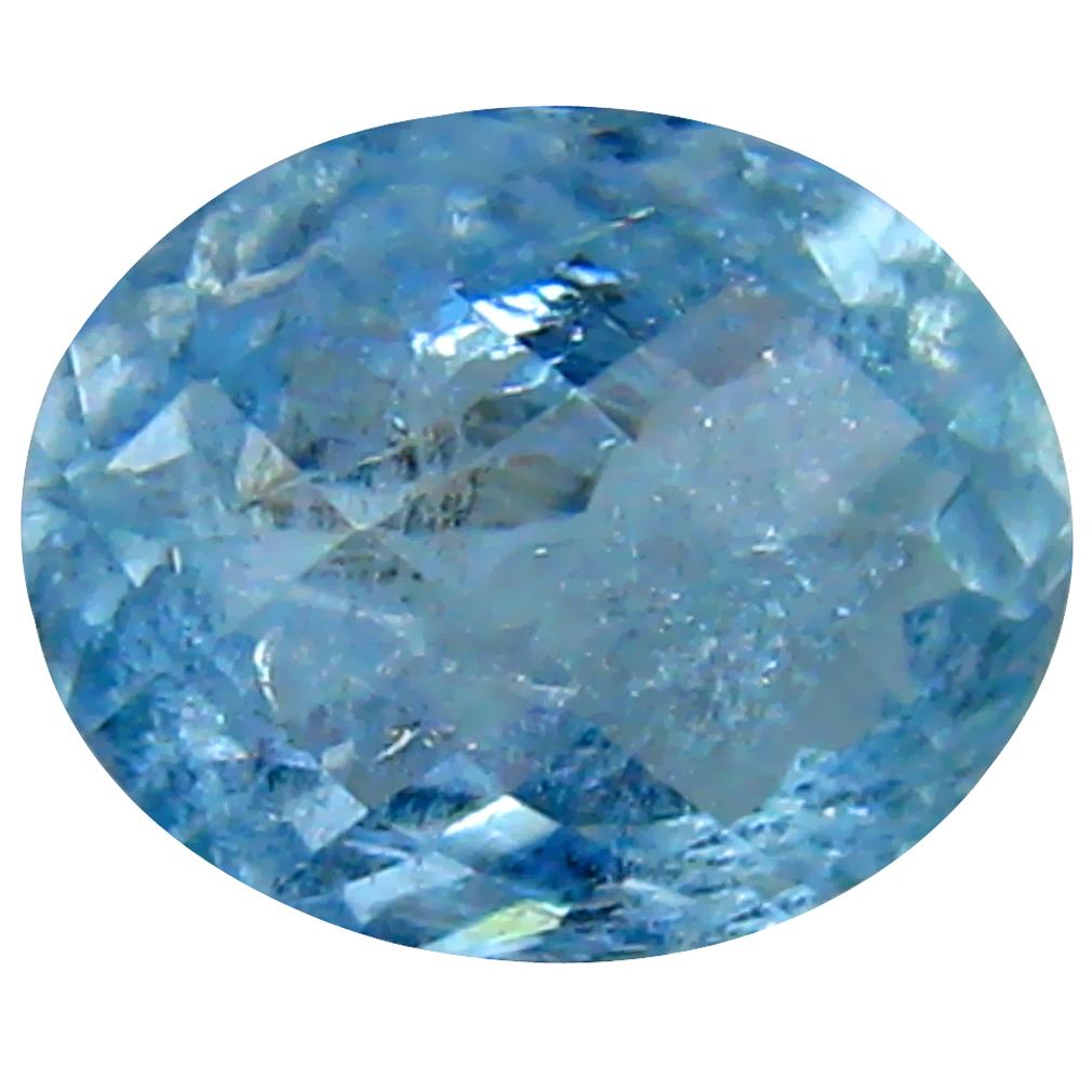1.00 ct AAA Grand looking Oval Shape (8 x 7 mm) Blue Aquamarine Natural Gemstone