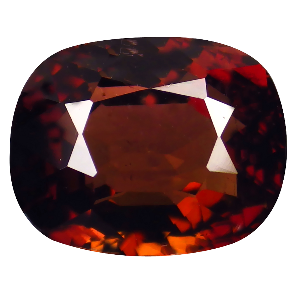 2.36 ct WONDERFUL CUSHION CUT (9 X 7 MM) MOZAMBIQUE ORANGE PINK TOURMALINE NATURAL GEMSTONE