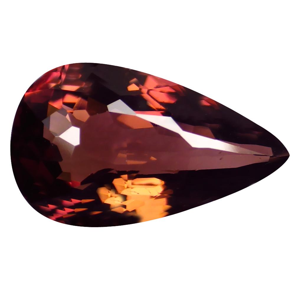 2.14 ct FABULOUS PEAR CUT (11 X 7 MM) MOZAMBIQUE ORANGE PINK TOURMALINE NATURAL GEMSTONE