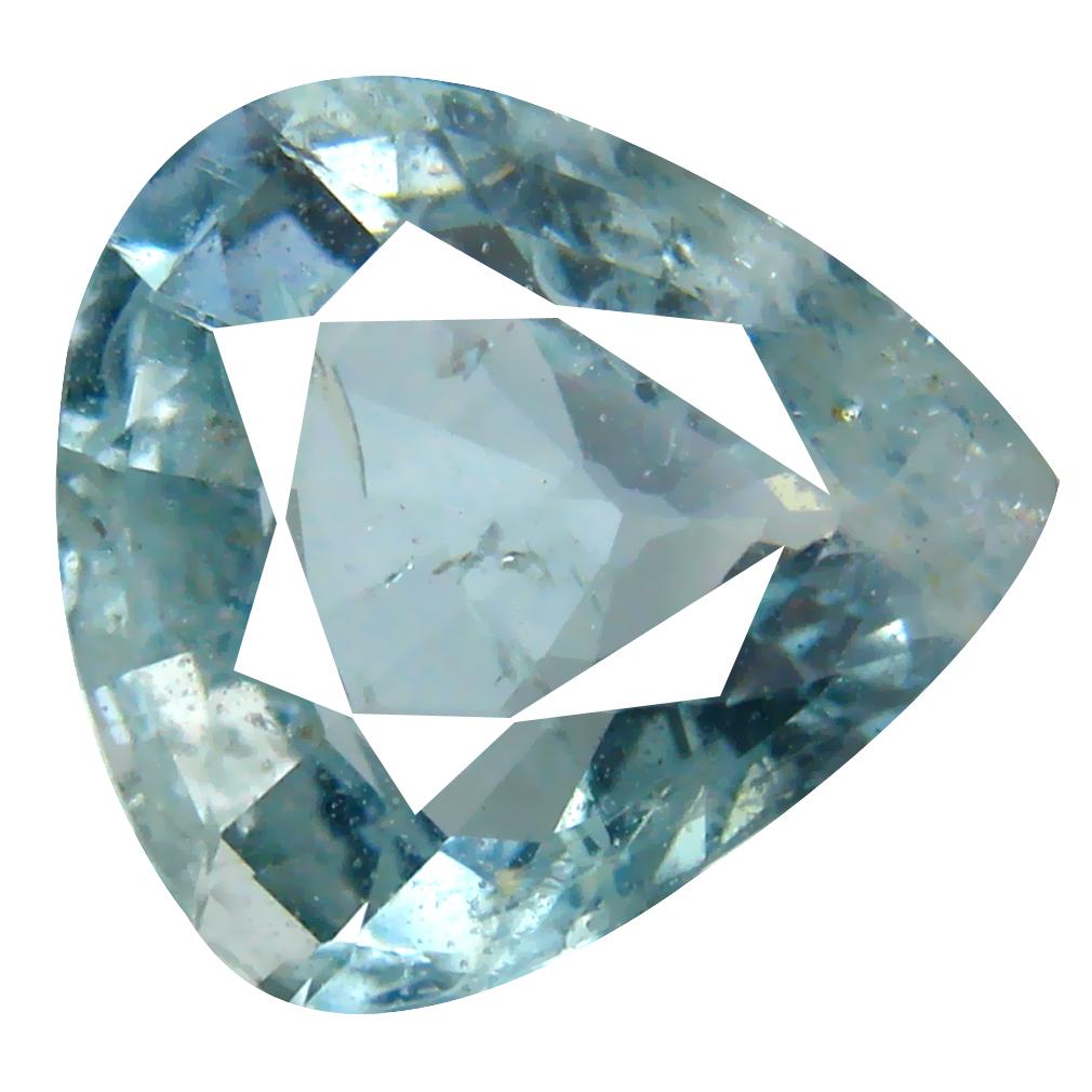 4.89 ct AAA Romantic Pear Shape (12 x 12 mm) Blue Aquamarine Natural Gemstone