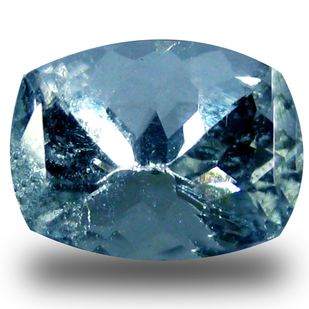 0.91 ct AAA Impressive Cushion Shape (7 x 5 mm) Blue Aquamarine Natural Gemstone