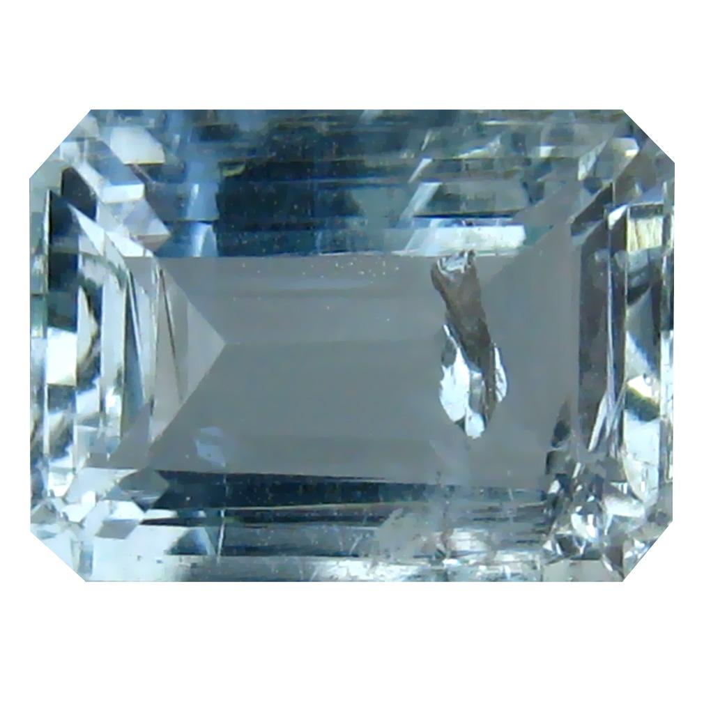 3 24 ct Emerald Shape (10 x 7 mm) Brazilian Blue Aquamarine Loose Gemstone  | eBay