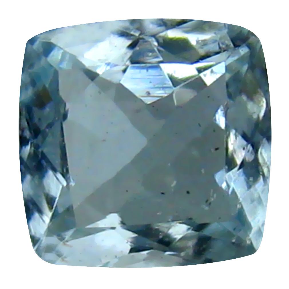 0.71 ct Cushion Shape (6 x 6 mm) Brazilian Blue Aquamarine Loose Gemstone