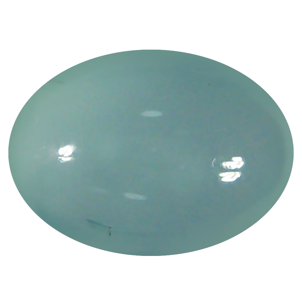 5.48 ct Eye-opening Oval Cabochon Shape (13 x 9 mm) Sky Blue Aquamarine Genuine Stone