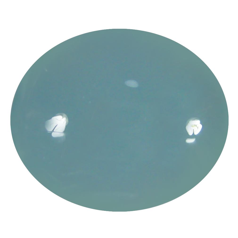 10.68 ct Sparkling Oval Cabochon Shape (17 x 14 mm) Sky Blue Aquamarine Genuine Stone