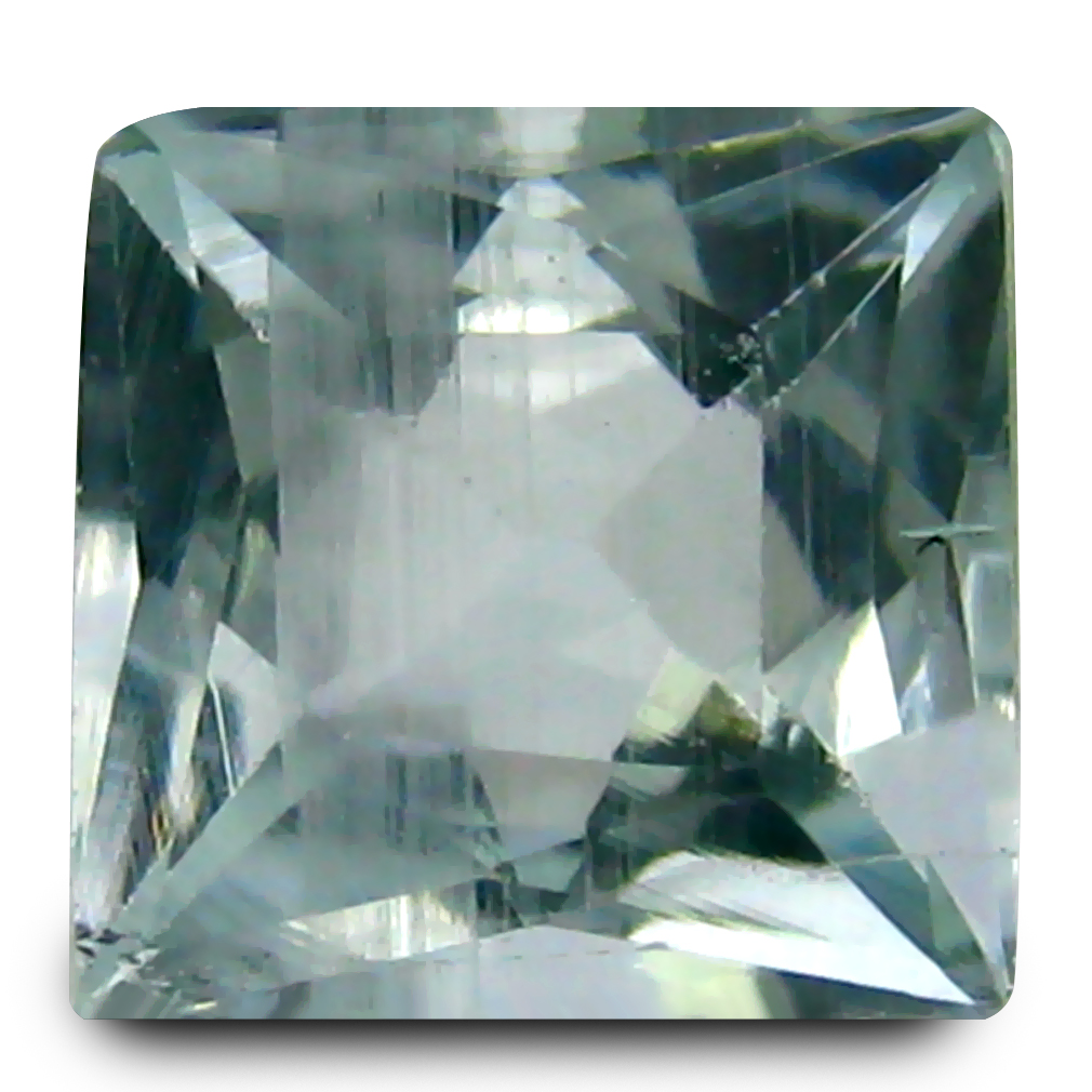 1.17 ct AAA Wonderful Princess Shape (6 x 7 mm) Blue Aquamarine Natural Gemstone