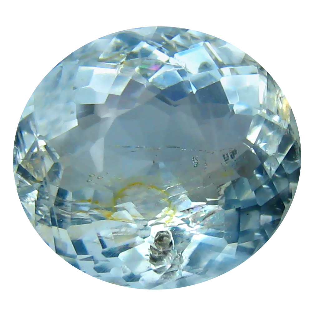 4.27 ct Oval Shape (12 x 11 mm) Brazilian Blue Aquamarine Loose Gemstone