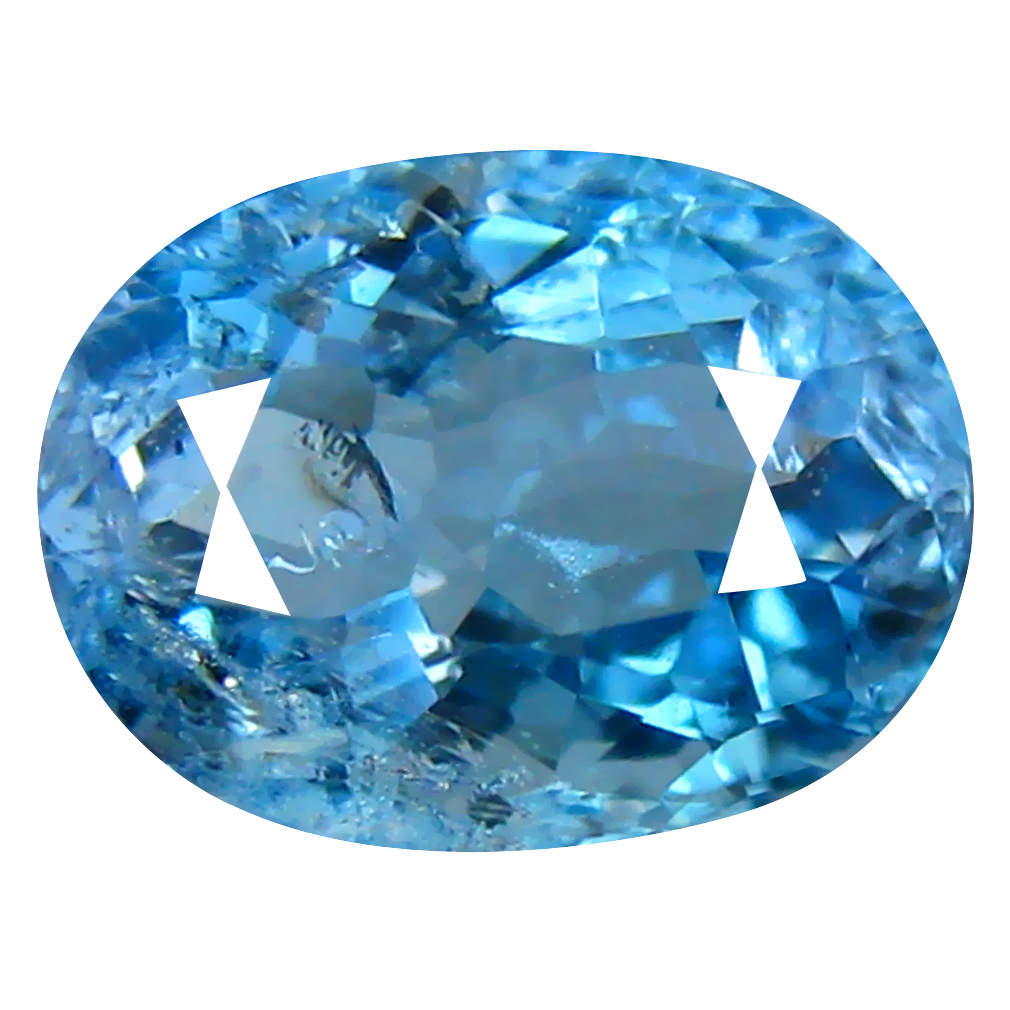 1.12 ct OVAL CUT (8 X 6 MM) DE ITABIRA MINE BRAZILIAN SANTA MARIA AQUAMARINE