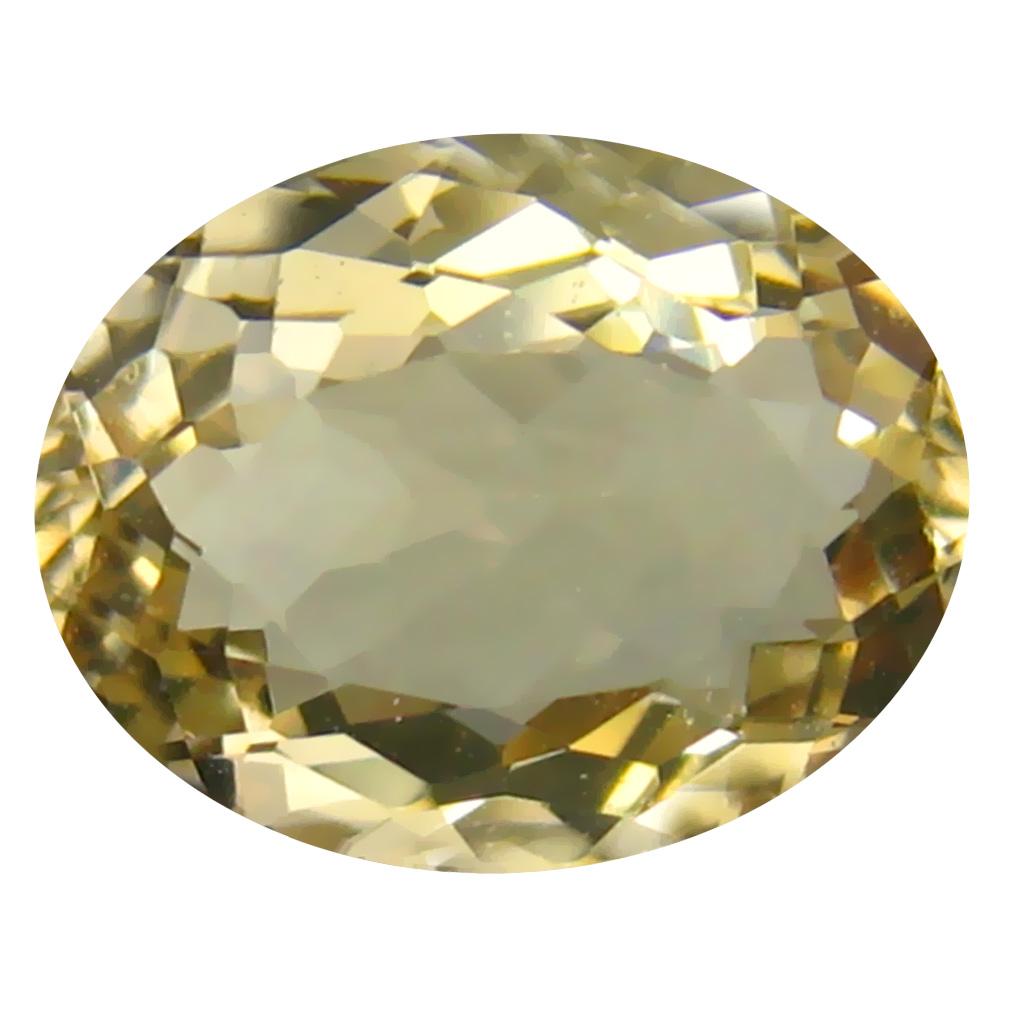 2.10 ct Wonderful Oval Shape (10 x 8 mm) Yellow Heliodor Beryl Genuine Stone