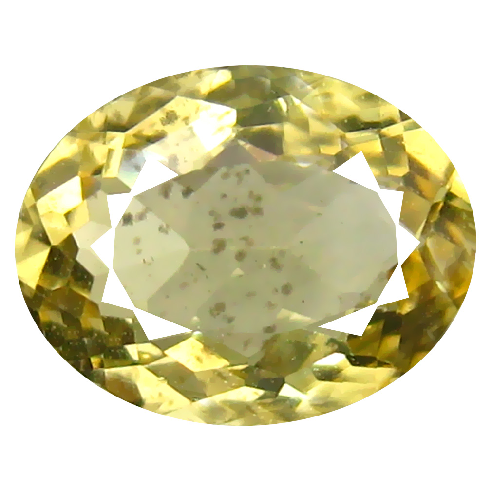 1.49 ct Great looking Oval Shape (9 x 7 mm) Yellow Heliodor Beryl Genuine Stone