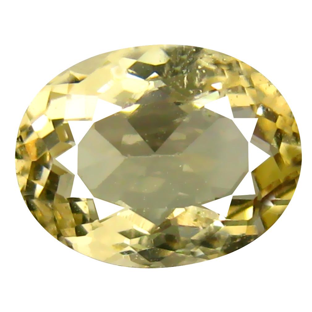 1.60 ct Extraordinary Oval Shape (9 x 7 mm) Yellow Heliodor Beryl Genuine Stone
