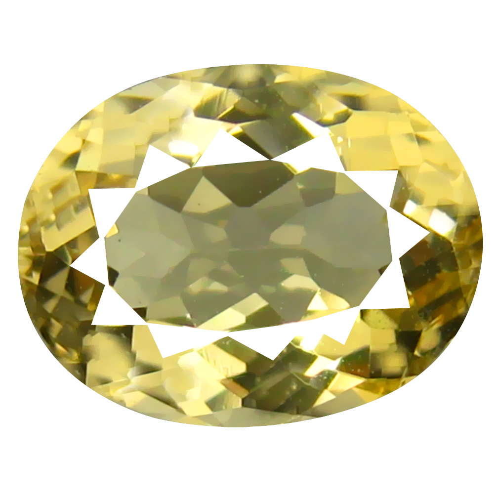 2.00 ct Super-Excellent Oval Shape (9 x 7 mm) Yellow Heliodor Beryl Genuine Stone