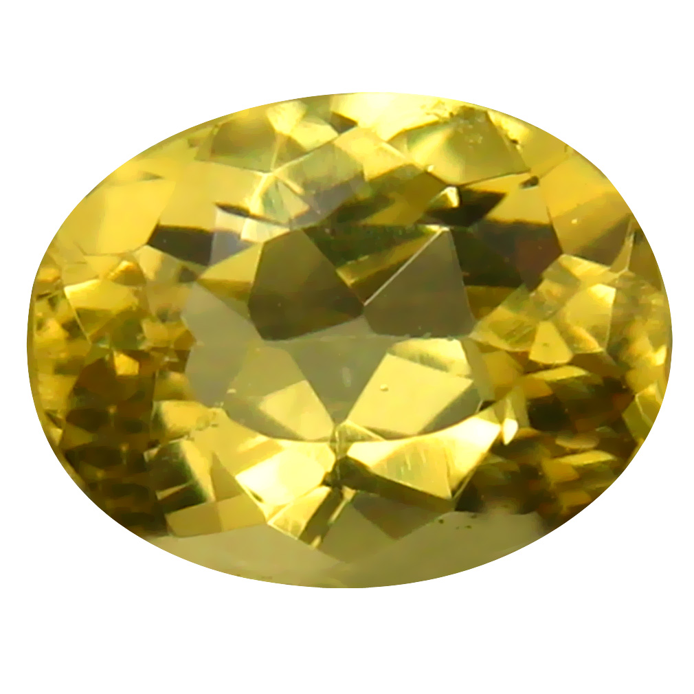 1.99 ct Oval Shape (9 x 7 mm) Brazilian Golden Yellow Heliodor Beryl Loose Gemstone