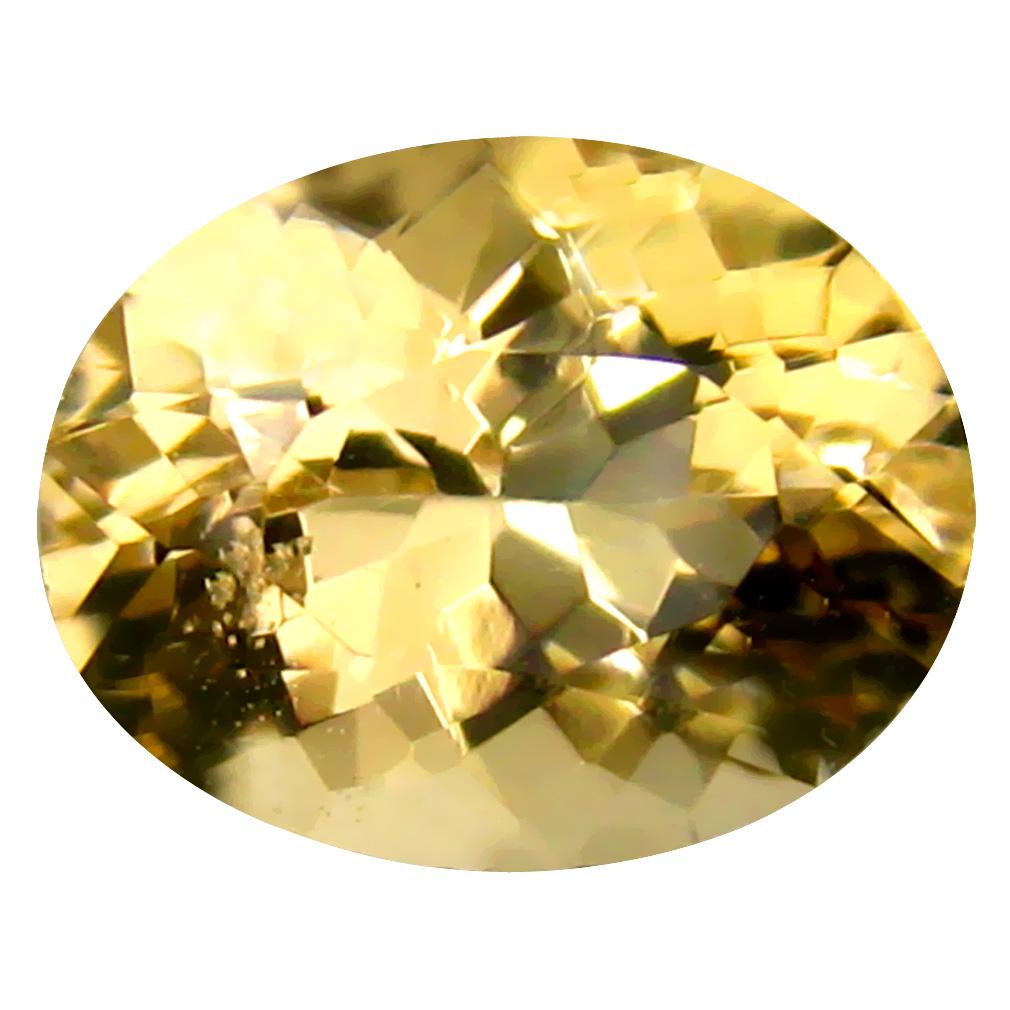 2.29 ct Oval Shape (8 x 8 mm) Brazilian Yellow Heliodor Beryl Loose Gemstone