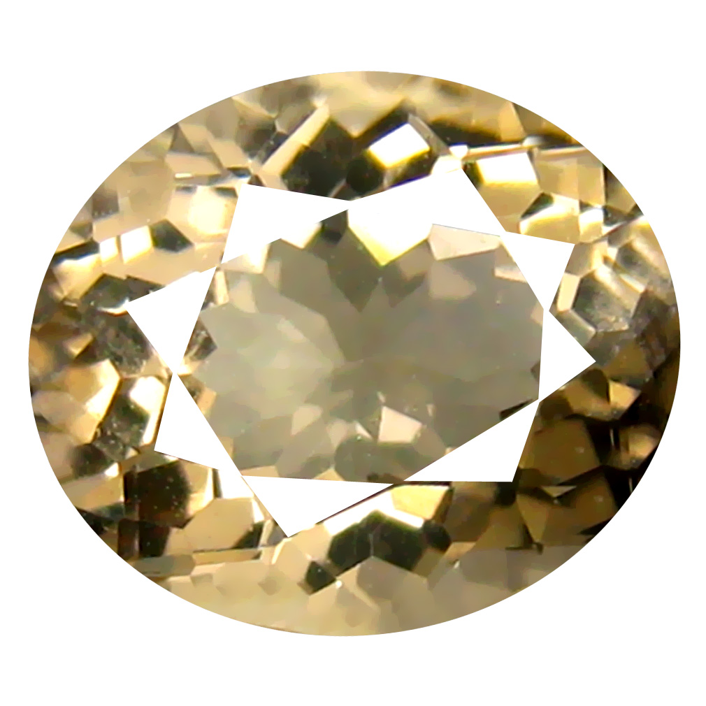1.65 ct Oval Shape (9 x 7 mm) Brazilian Yellow Heliodor Beryl Loose Gemstone