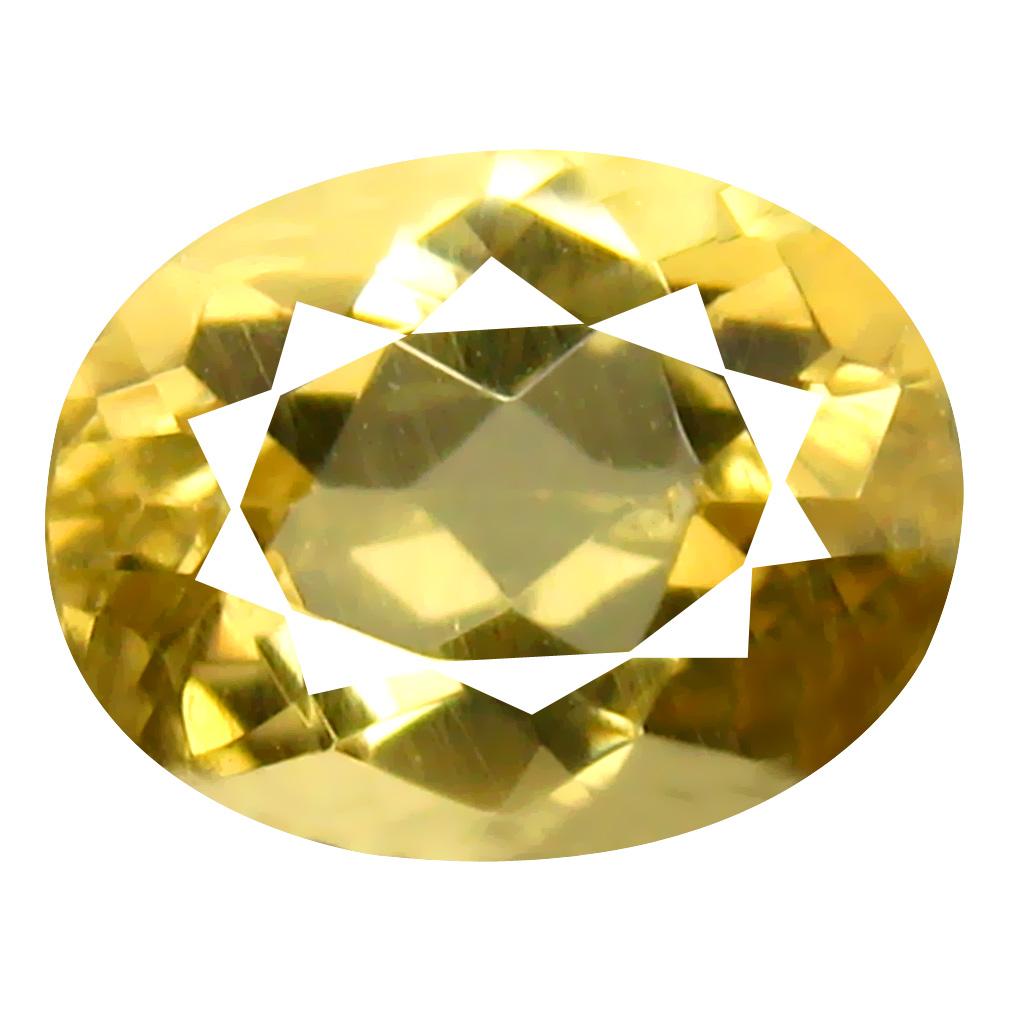 2.00 ct Oval Shape (9 x 7 mm) Brazilian Yellow Heliodor Beryl Loose Gemstone