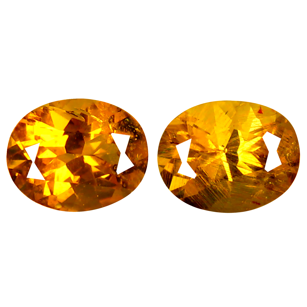 0.68 ct (2 pcs) Elegant Oval Cut (5 x 4 mm) Golden Yellow Heliodor Beryl Gemstone