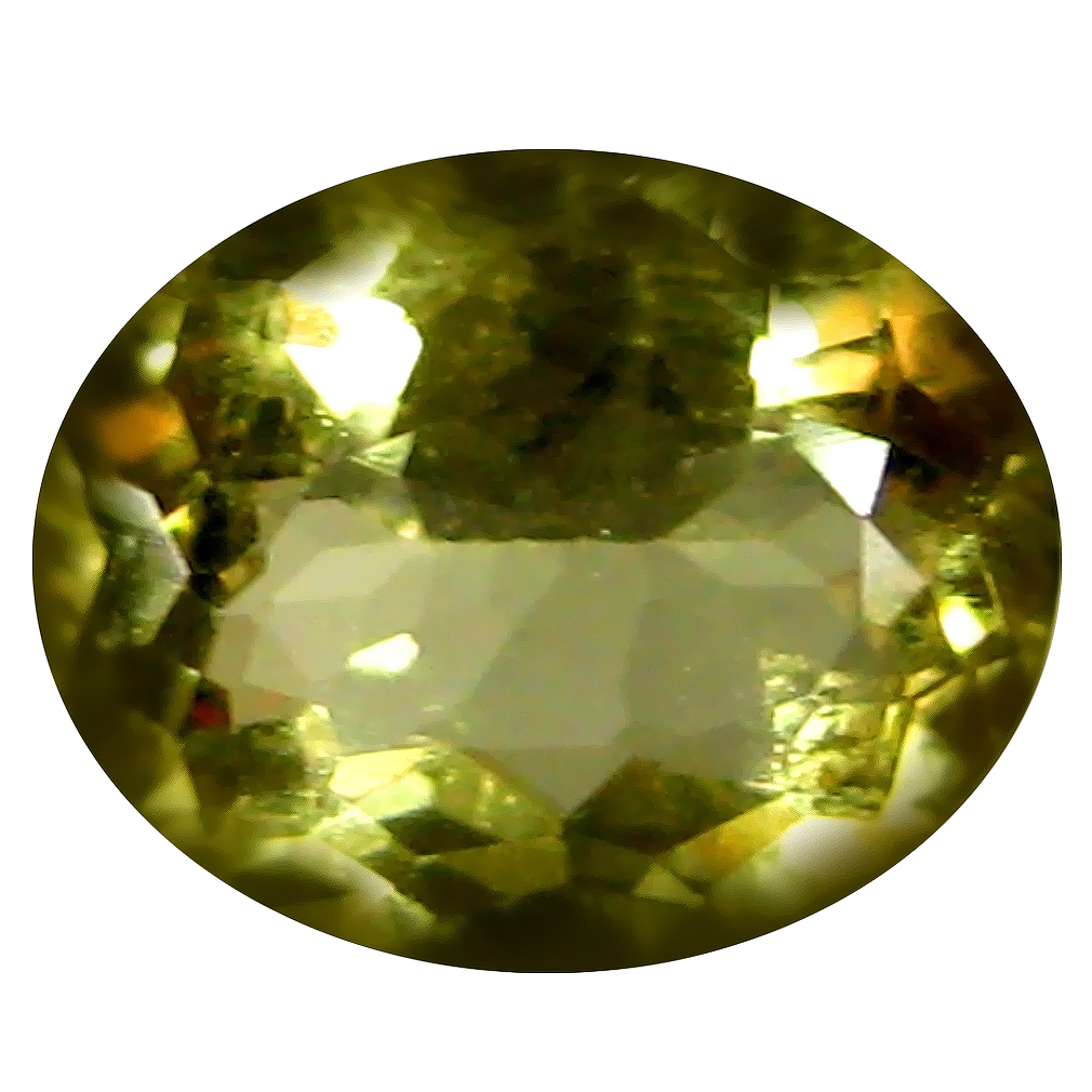 1.69 ct AAA Superior Oval Shape (9 x 7 mm) Yellow Heliodor Beryl Natural Gemstone