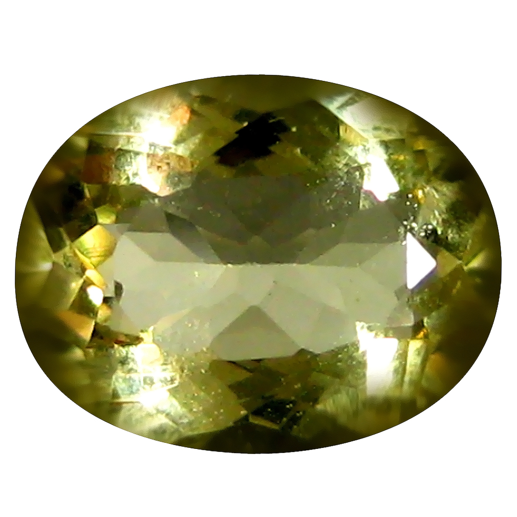 1.51 ct AAA Extraordinary Oval Shape (9 x 7 mm) Yellow Heliodor Beryl Natural Gemstone