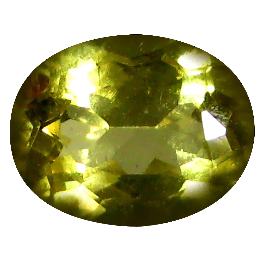 0.94 ct AAA Attractive Oval Shape (8 x 6 mm) Yellow Heliodor Beryl Natural Gemstone