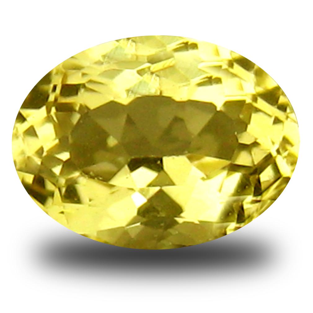 0.70 ct AAA Supreme Oval Shape (7 x 5 mm) Yellow Heliodor Beryl Natural Gemstone