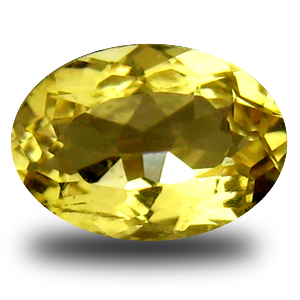 0.51 ct AAA Spectacular Oval Shape (7 x 5 mm) Yellow Heliodor Beryl Natural Gemstone