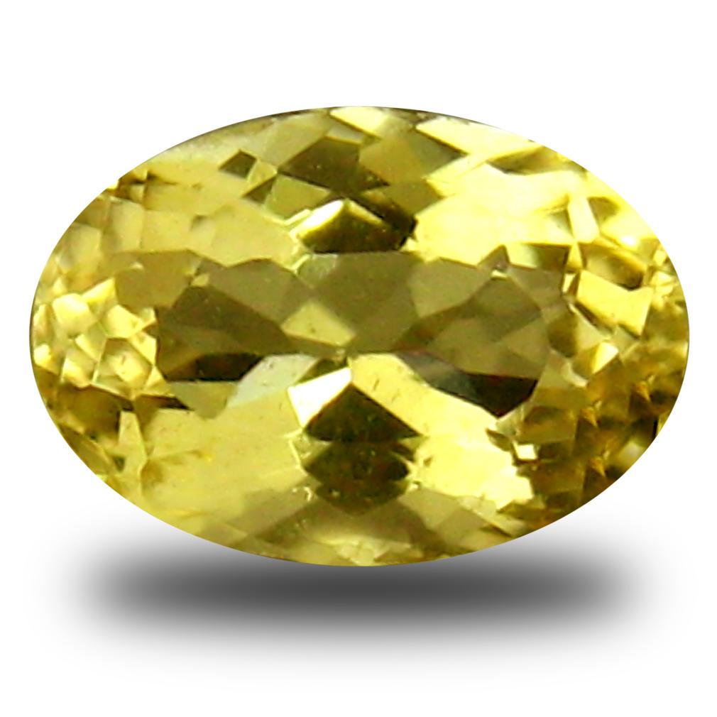 0.34 ct AAA Flashing Oval Shape (6 x 4 mm) Yellow Heliodor Beryl Natural Gemstone