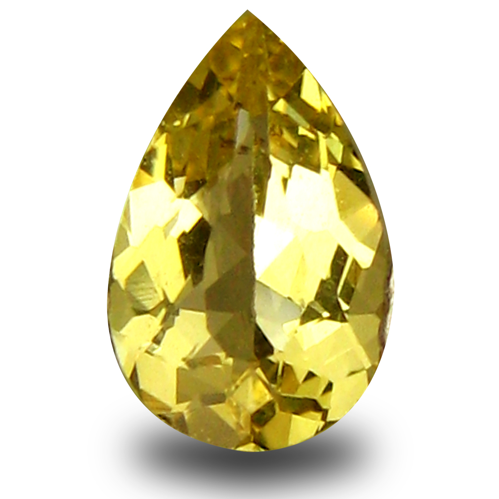 0.37 ct AAA Five-star Pear Shape (8 x 5 mm) Yellow Heliodor Beryl Natural Gemstone