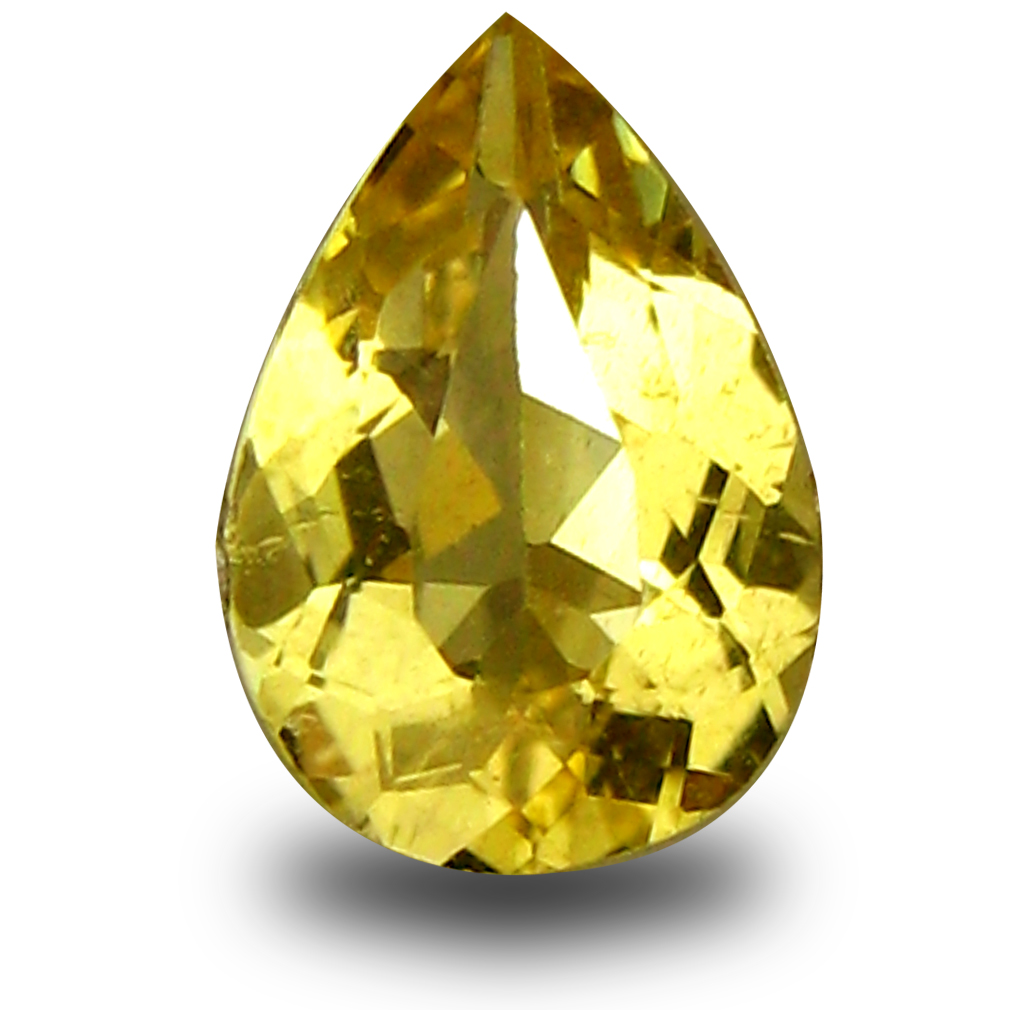 0.54 ct AAA World class Pear Shape (7 x 5 mm) Yellow Heliodor Beryl Natural Gemstone