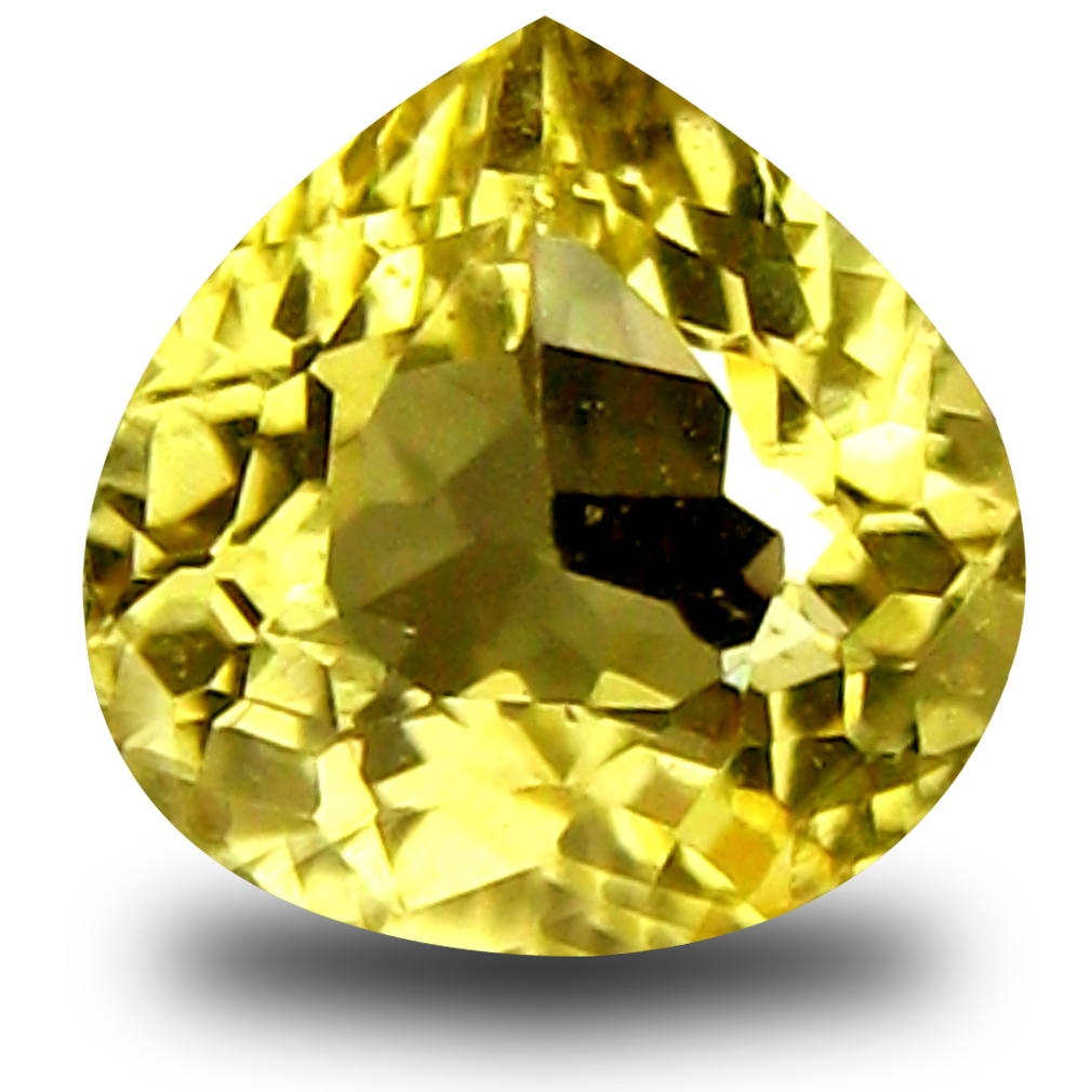 0.65 ct AAA Resplendent Trillion Shape (6 x 6 mm) Yellow Heliodor Beryl Natural Gemstone