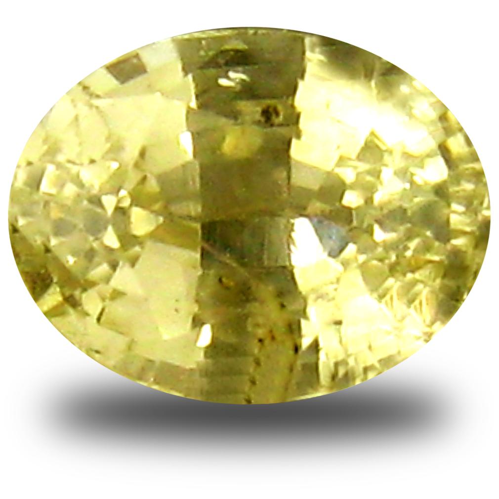 0.78 ct AAA Tremendous Oval Shape (5 x 4 mm) Yellow Heliodor Beryl Natural Gemstone