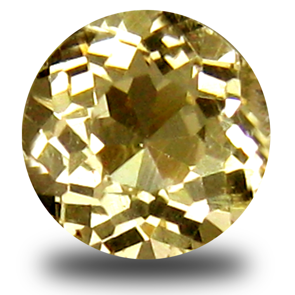 0.43 ct AAA Impressive Round Shape (5 x 5 mm) Yellow Heliodor Beryl Natural Gemstone