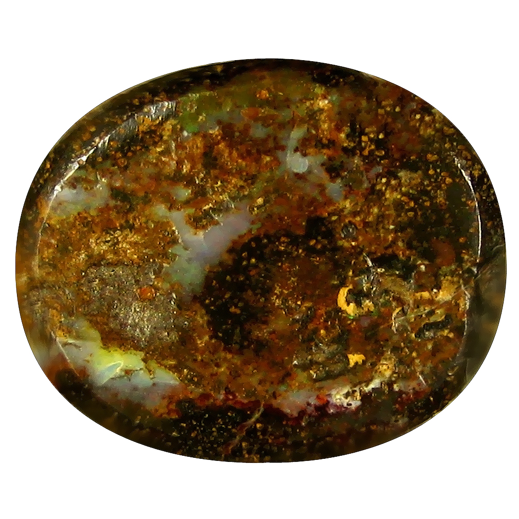7.54 ct Supreme Fancy Shape (15 x 12 mm) Play of Colors Australian Koroit Boulder Opal Natural Loose Gemstone