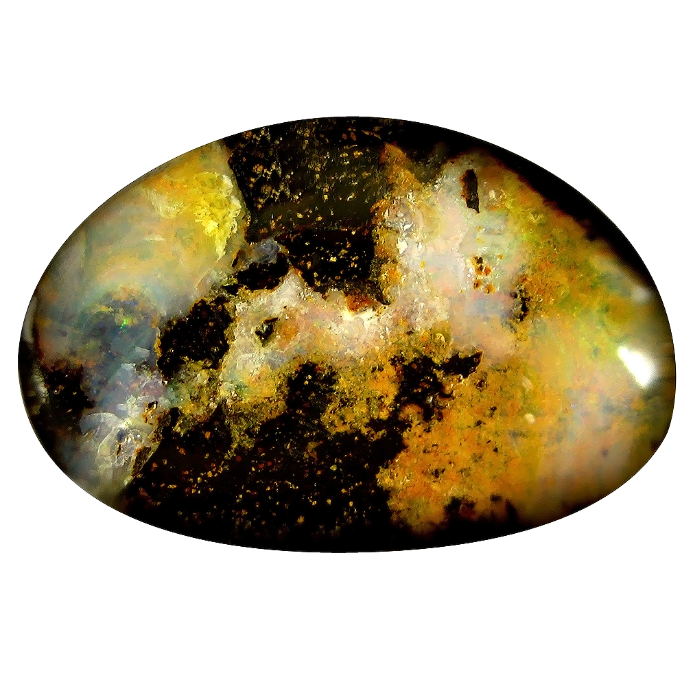 16.84 ct Astonishing Fancy Shape (23 x 15 mm) Play of Colors Australian Koroit Boulder Opal Natural Loose Gemstone