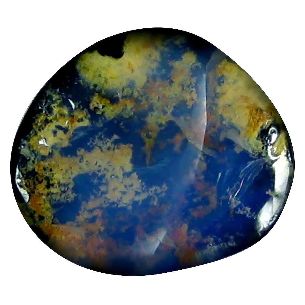 5.67 ct Stunning Fancy Shape (15 x 13 mm) Play of Colors Australian Koroit Boulder Opal Natural Loose Gemstone