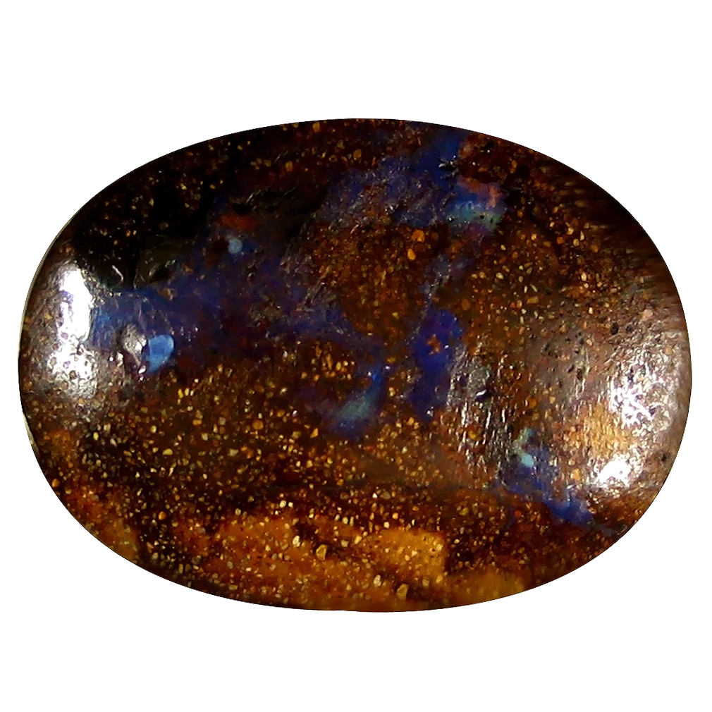 10.06 ct Remarkable Fancy Shape (20 x 15 mm) Play of Colors Australian Koroit Boulder Opal Natural Loose Gemstone