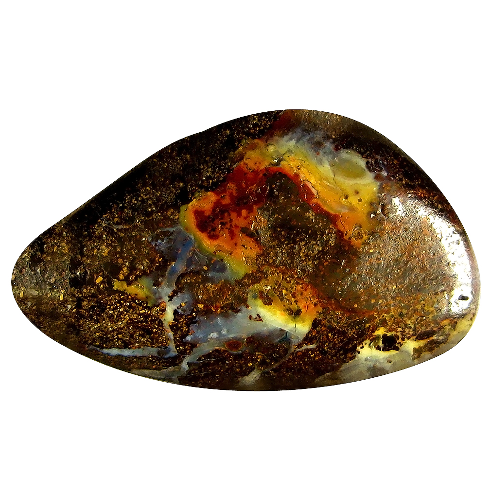 15.02 ct Topnotch Fancy Shape (25 x 15 mm) Play of Colors Australian Koroit Boulder Opal Natural Loose Gemstone