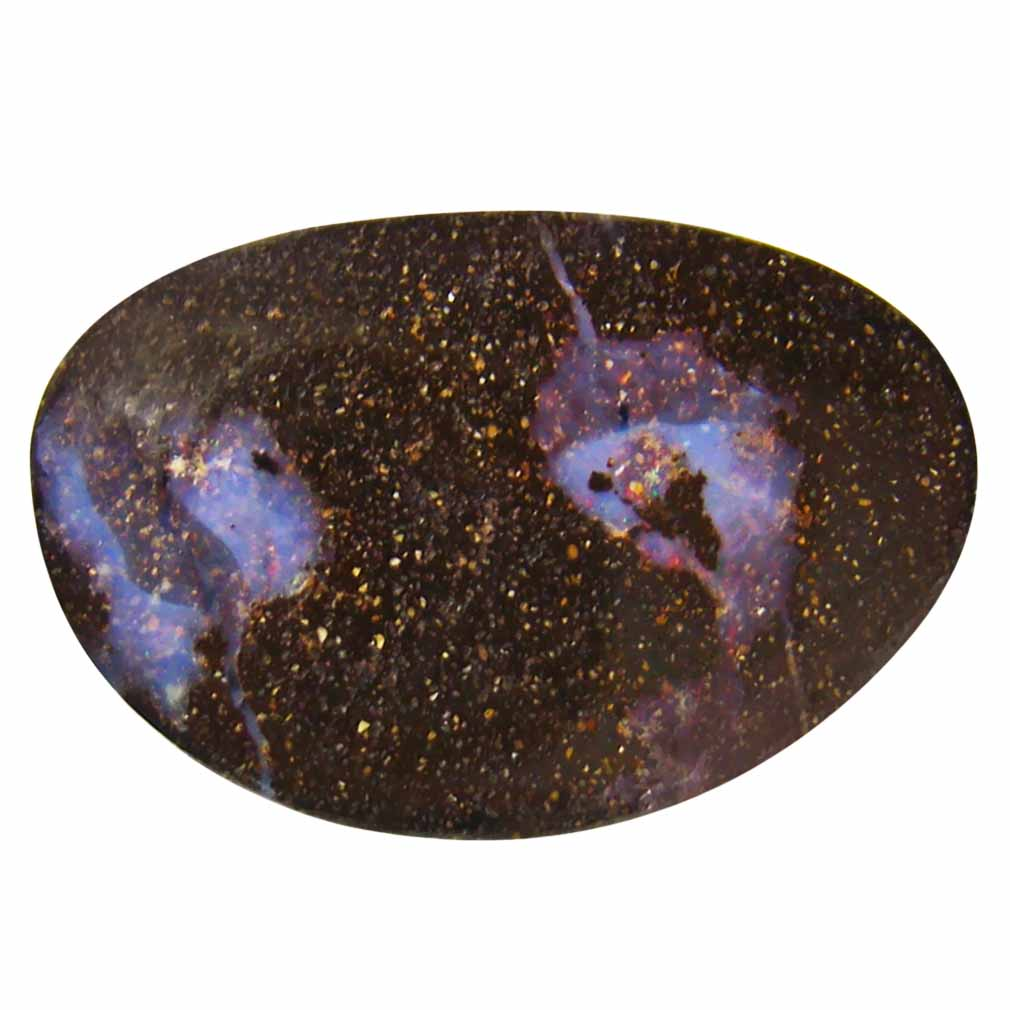 13.72 ct Incomparable Fancy Shape (21 x 14 mm) Play of Colors Australian Koroit Boulder Opal Natural Loose Gemstone