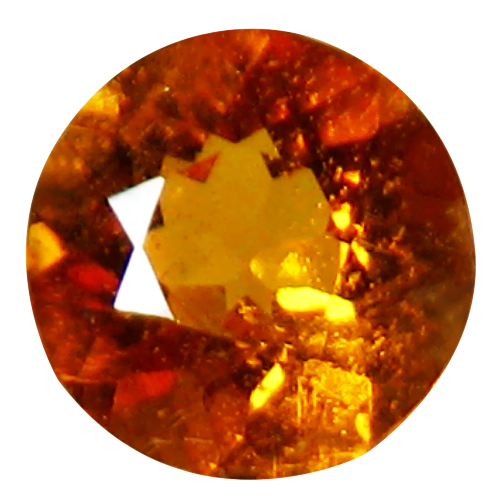 0.25 ct MESMERIZING ROUND (4 X 4 MM) UNHEATED / UNTREATED TAJIKISTAN CLINOHUMITE LOOSE GEMSTONE