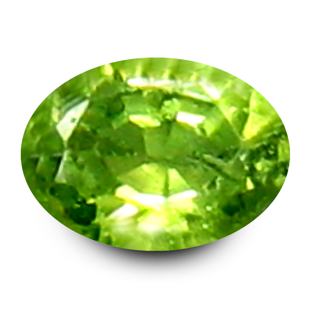 0.14 ct Grand looking Oval Cut (3 x 3 mm) Un-Heated Natural Demantoid Garnet Loose Gemstone