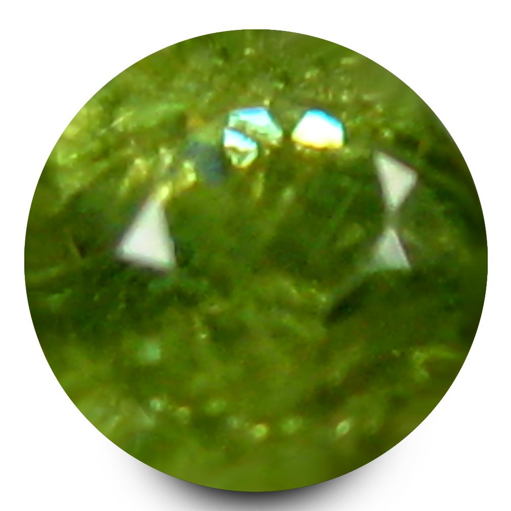0.15 ct Outstanding Round Cut (3 x 3 mm) Un-Heated Natural Demantoid Garnet Loose Gemstone