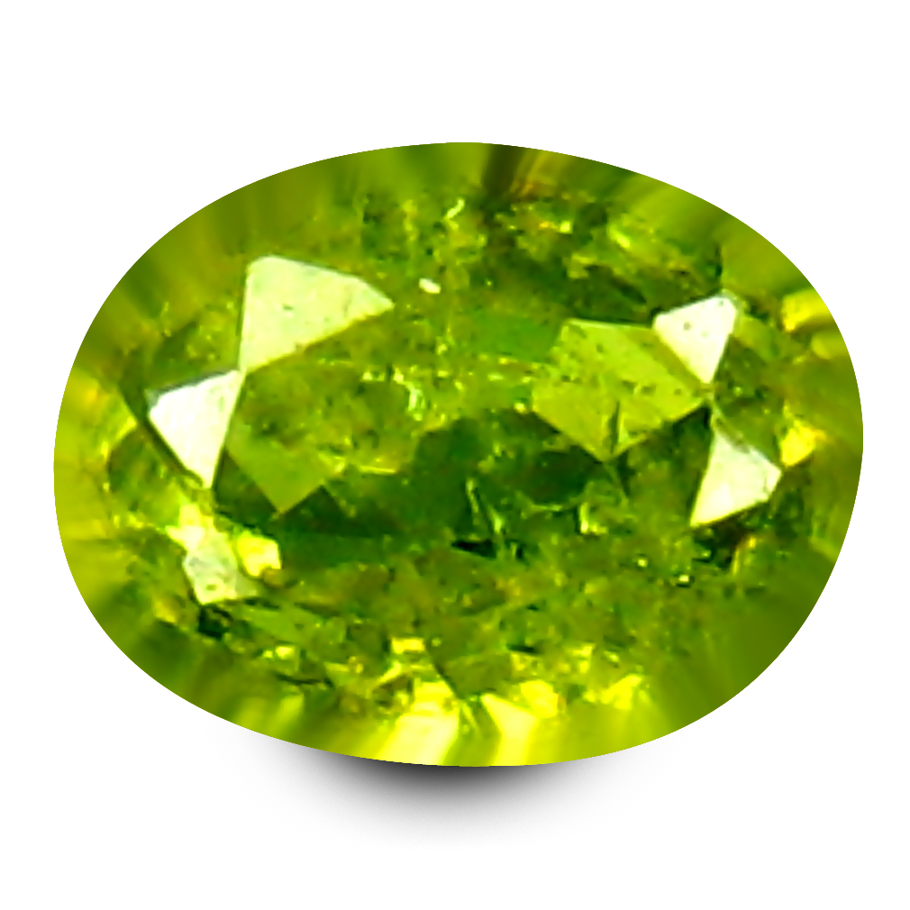 0.17 ct Phenomenal Oval Cut (4 x 3 mm) Un-Heated Natural Demantoid Garnet Loose Gemstone