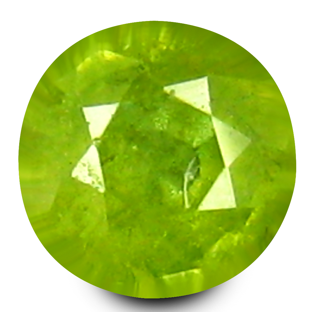 0.18 ct Remarkable Round Cut (3 x 3 mm) Un-Heated Natural Demantoid Garnet Loose Gemstone
