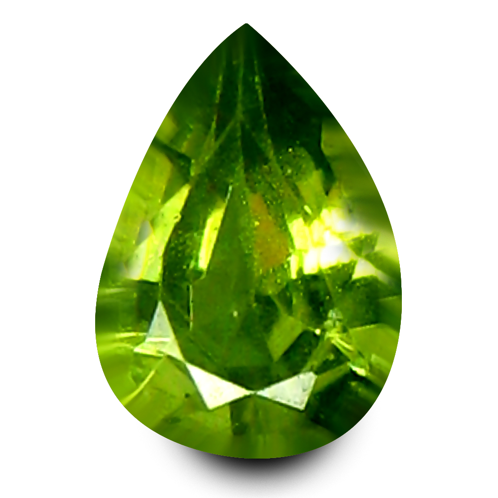 0.18 ct Fair Pear Cut (4 x 2 mm) Un-Heated Natural Demantoid Garnet Loose Gemstone