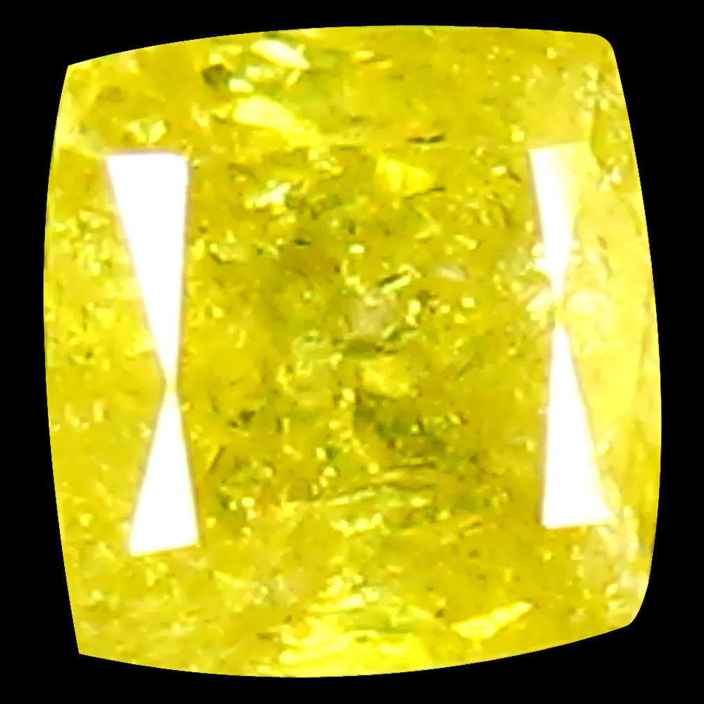 0.14 ct Gorgeous Cushion Shape (3 x 3 mm) Fancy Yellow Diamond Genuine Stone