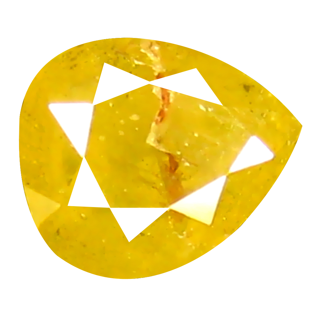 0.21 ct Significant Pear Shape (4 x 3 mm) Fancy Yellow Diamond Genuine Stone