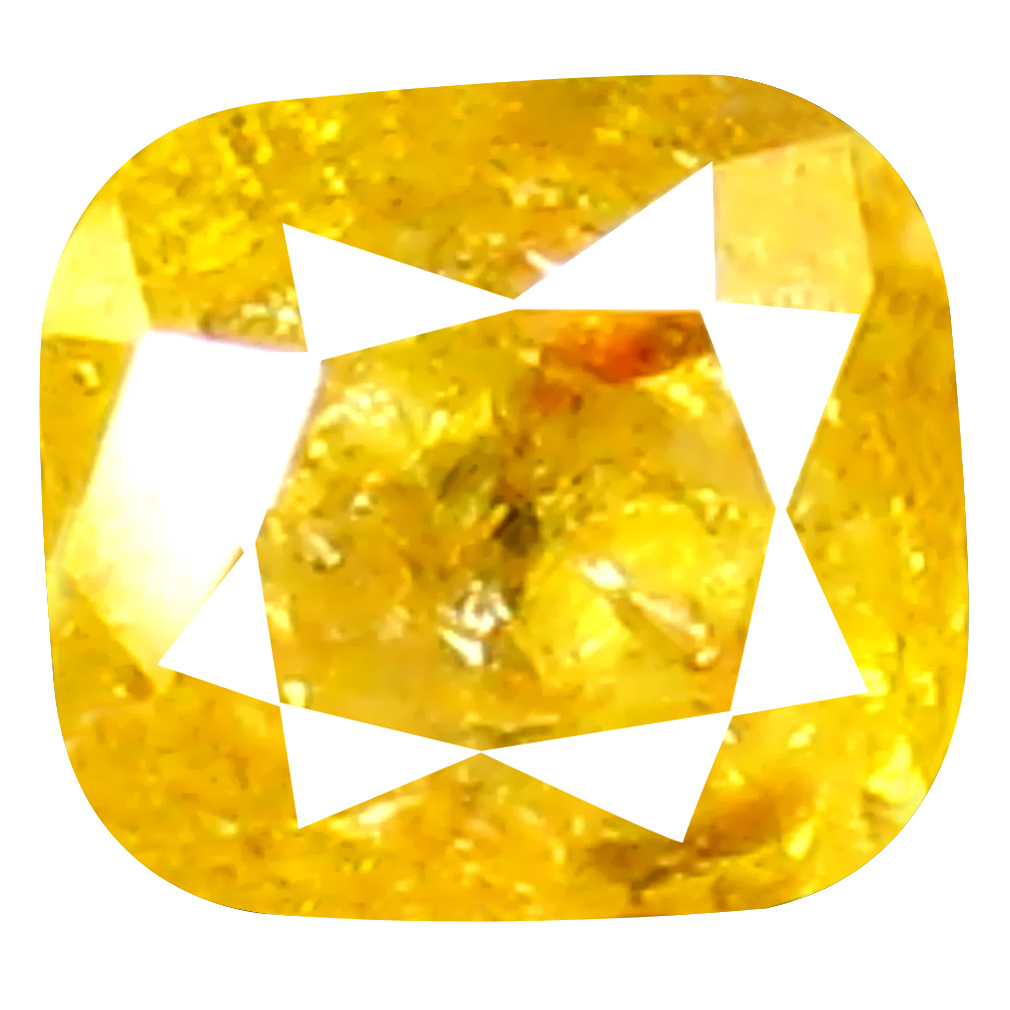 0.16 ct Awe-inspiring Cushion Shape (3 x 3 mm) Fancy Yellow Diamond Genuine Stone