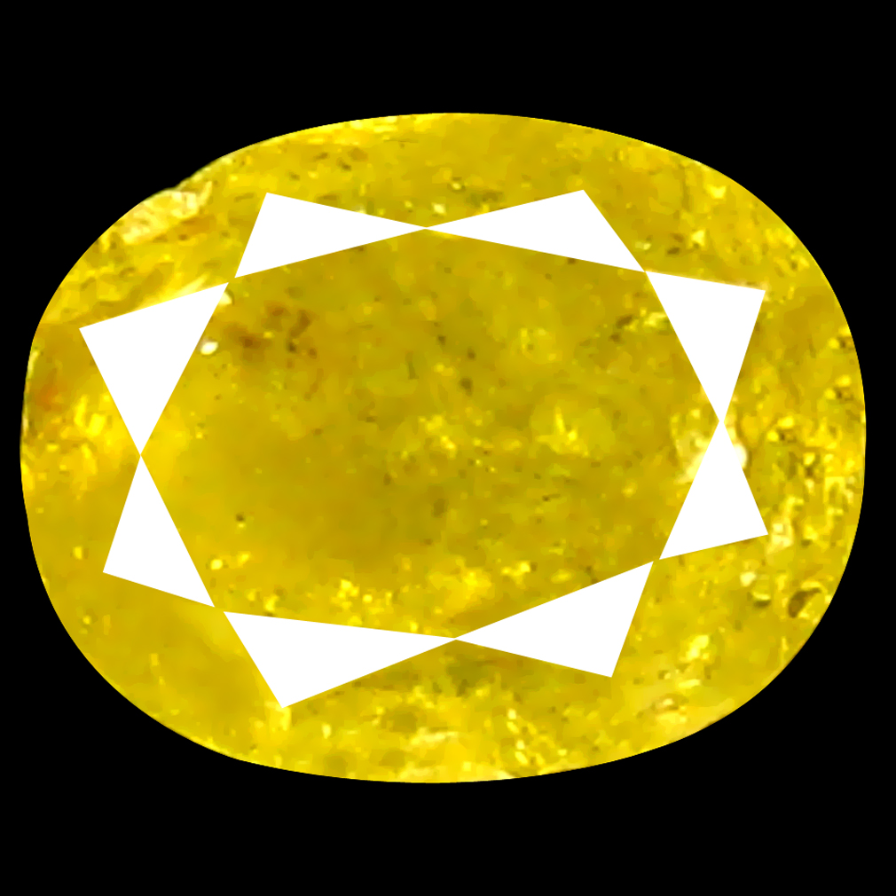 0.33 ct Fantastic Oval Shape (4 x 3 mm) Fancy Yellow Diamond Genuine Stone