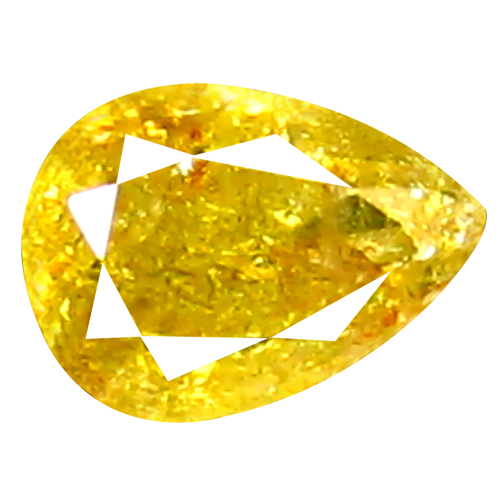0.19 ct Supreme Pear Shape (4 x 3 mm) Fancy Yellow Diamond Genuine Stone